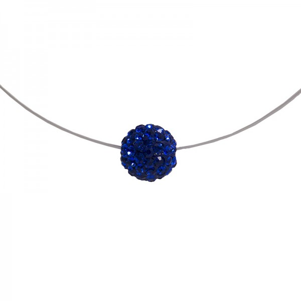 Jt Silver choker blue Swarovski necklace