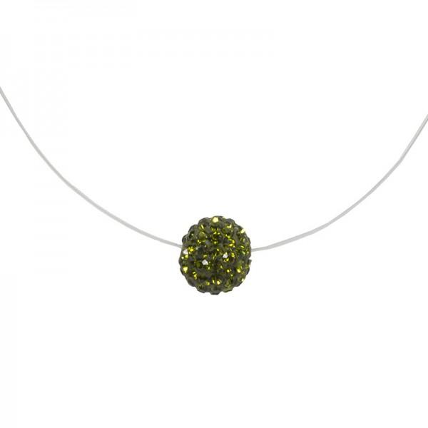 Jt Silver choker green Swarovski necklace