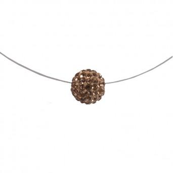 Jt Silver choker salmon Swarovski necklace