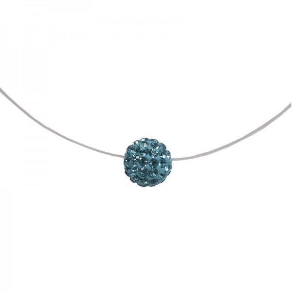 Jt Silver choker turquoise Swarovski necklace
