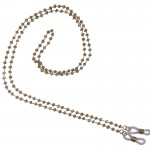 Jt Rose steel glasses' chain rosary with salmon crystals