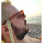 AD Εντυπωσιακή ακρυλική αλυσίδα γυαλιών κίτρινη πάλ