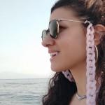 AD Εντυπωσιακή ακρυλική αλυσίδα γυαλιών ροζ απαλό
