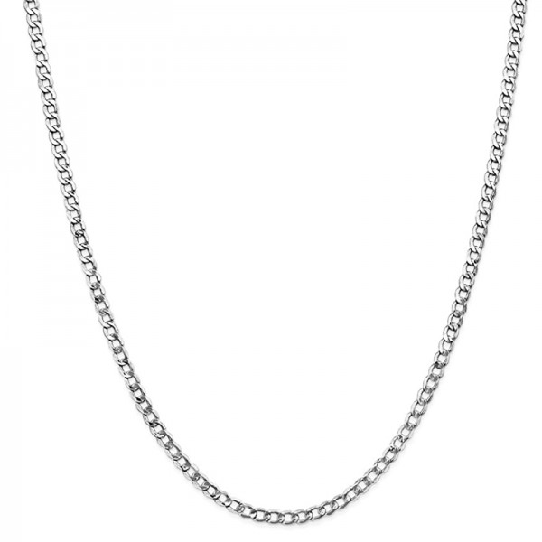 Jt Stainless steel unisex cuban thin chain necklace 4mm