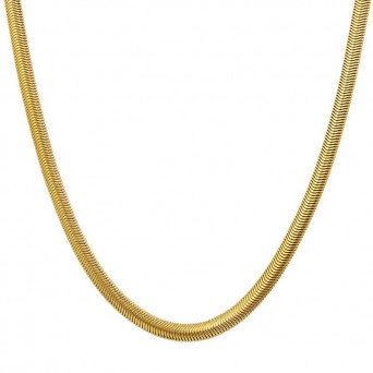 Jt Steel women's flat gold snake chain 6mm