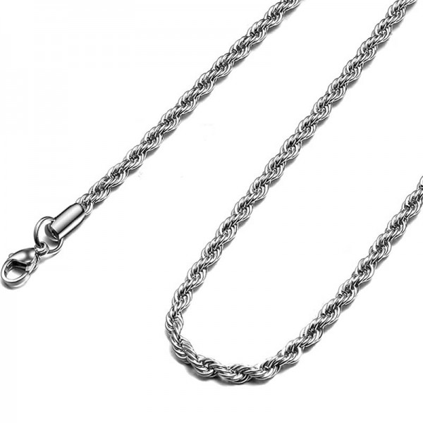 Jt Modern Unisex Rope Chain Necklace 4mm