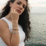 Jt Γυναικεία αλυσίδα χεριού φιδίσια πλακέ ατσάλι 6mm