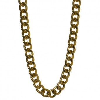 Jt Χρυσή αλυσίδα λαιμού γυναικεία παχιά αλουμίνιο