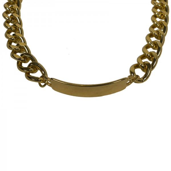 Jt Gold ID Tag chain from aluminium and ΖΑΜΑΚ