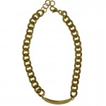 Jt Gold ID Tag chain from aluminium and zama