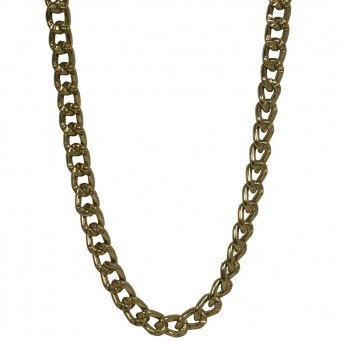 Jt Very long thick gold women's aluminium chain