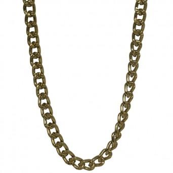 Jt Χρυσή αλυσίδα λαιμού γυναικεία παχιά πολύ μακριά αλουμίνιο