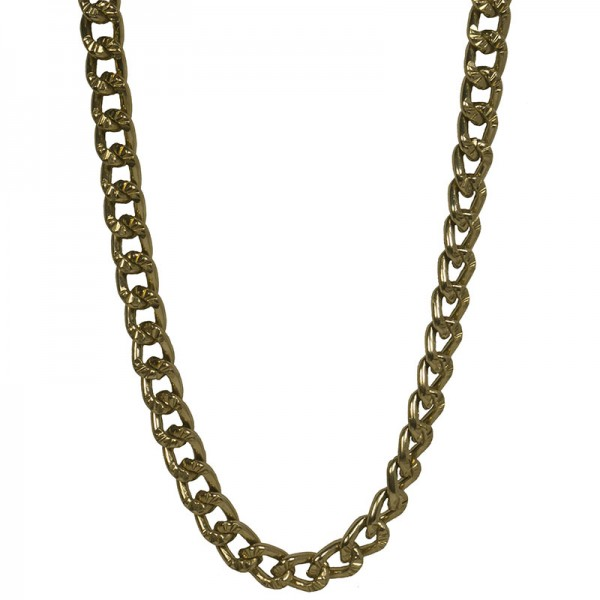 Jt Very long thick gold women's aluminium chain