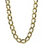 Jt Χρυσή αλυσίδα λαιμού γυναικεία παχιά από αλουμίνιο 2cm