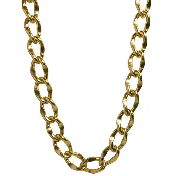 Jt Thick gold-plated aluminium women's chain 2cm