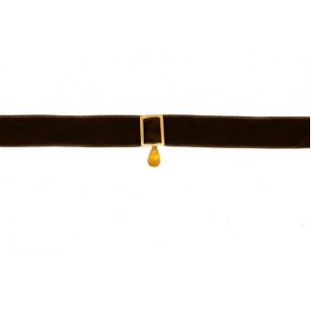 Jt Gold plated silver choker necklace with Swarovski teardrop