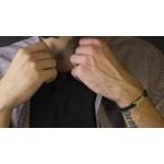 Jt Men's Silver Macrame ID Couple Bracelet