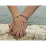 Jt Silver Macrame Crowns Couple Bracelet