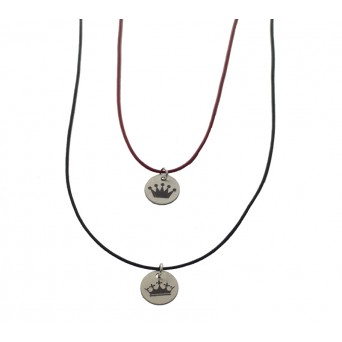 Jt Sterling silver coins with crowns couple necklaces