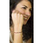 Jt Black Silver Infinity Red Macrame Couple Bracelet