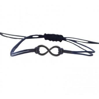 Jt Men`s Silver Macrame Infinity Couple Bracelet