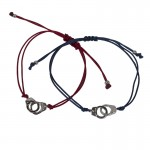 Jt Silver Handcuffs Couples Bracelets