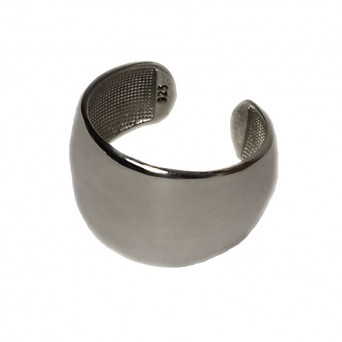 VFJ Sterling silver tube chevalie ring
