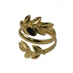 Jt Gold plated silver ring olive leaves