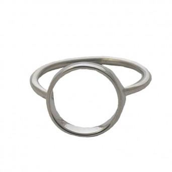 Jt minimal silver circle ring