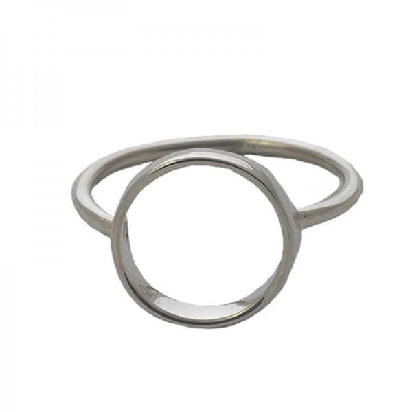 Jt Μίνιμαλ ασημένιο δαχτυλίδι κύκλος