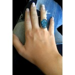 Jt Silver ring with quartz and sodalite