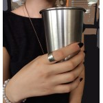 Jt Silver plain hammered ring
