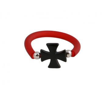 Jt ασημένιο δαχτυλίδι σταυρός της Μάλτας με όνυχα