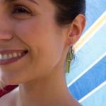 Jt Silver Pineapple & Toucan Drop Earrings