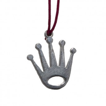 Jt Silver and steel crown necklace