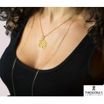 Jt Gold plated silver Tree of Life coin necklace