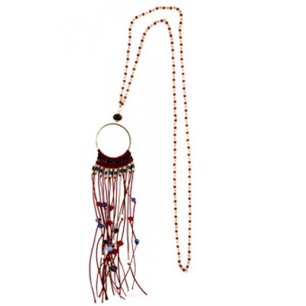Jt Handmade gold plated bronze boho style necklace