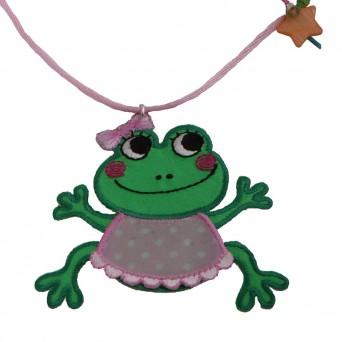 Jt Ασημένιο παιδικό κολιέ βάτραχος