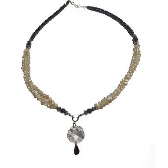 Jt Sterling Silver Round Swarovski Pearls Necklace