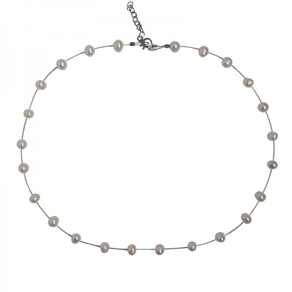 Jt Silver necklace with pearls