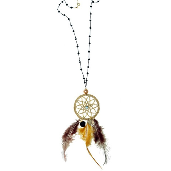 Jt Handmade dreamcatcher necklace made of gold plated silver