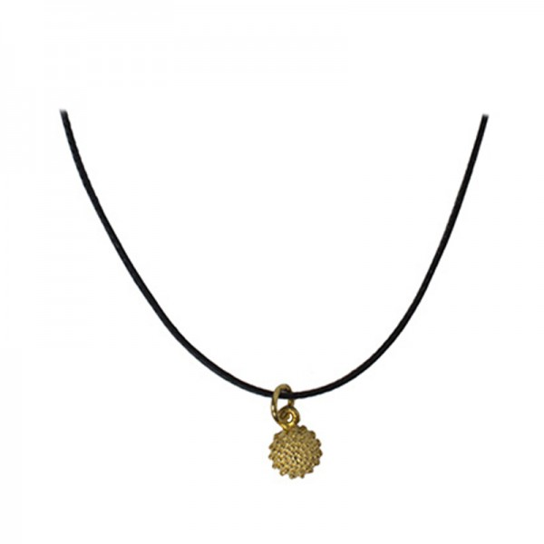 Jt Gold plated silver sea urchin necklace