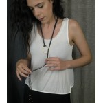 Jt Gold plated silver circle lariat necklace