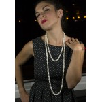 Jt Fresh Water Pearls White Beaded Long Necklace