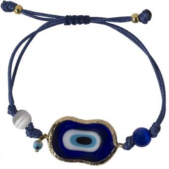 Jt Silver ceramic evil eye with lapis lazuli