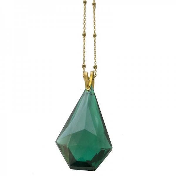Jt Gold plated silver necklace with Preciosa Crystal