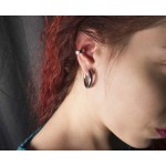 Jt Unisex small stainless steel clip on hoop earrings