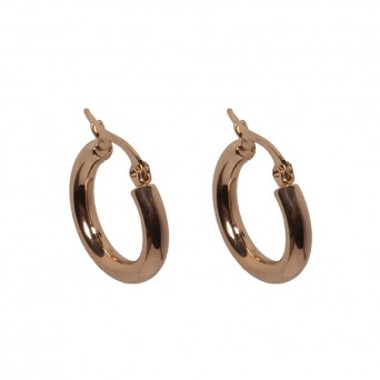 Jt Small gold plated steel hoop earrings 1.5cm