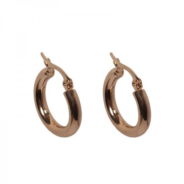 Jt Small gold plated steel hoop earrings 1.5cm