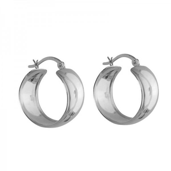 Jt Small and wide stainless steel hoop earrings 1.5cm